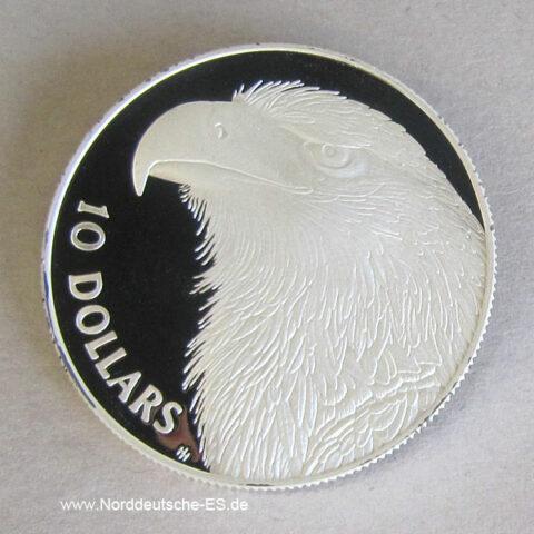 Australien 10 Dollars 1994 Endangered Wildlife Adler Silber