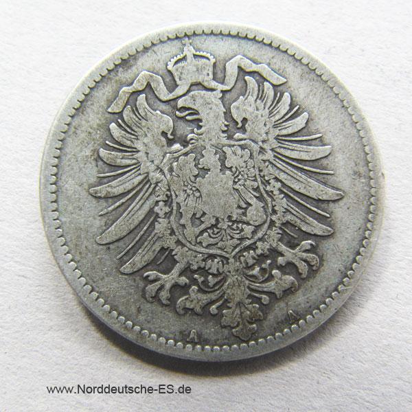 Deutsches Reich 1 Mark Silber 1873-1889 Kleiner Adler