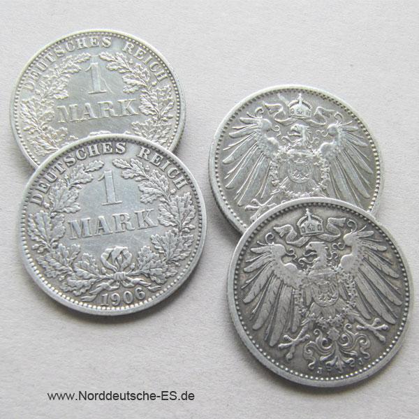 Deutsches Reich 1 Mark Silber 1891-1916 Großer Adler