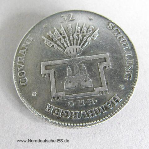 Hamburg Stadt 32 Schilling 1794 OHK Silber Franz II