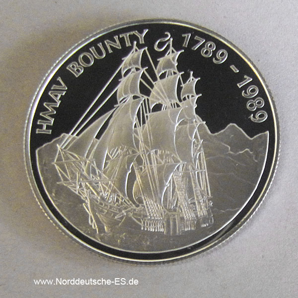 Pitcairn Islands 1 Dollar 1989 Silber Bounty