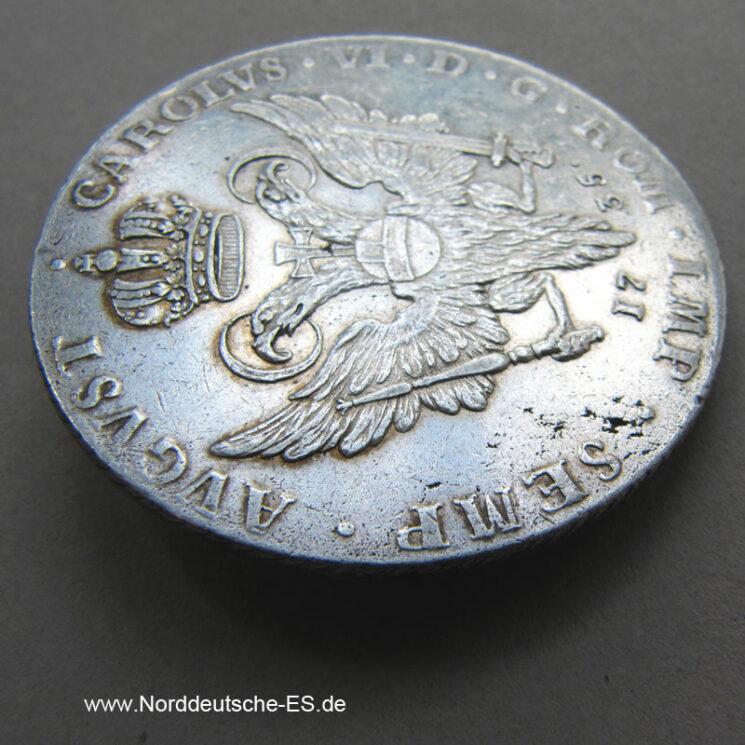 Reichstaler 1735 Karl VI Hamburg Stadt Taler Silber August Carolus VI
