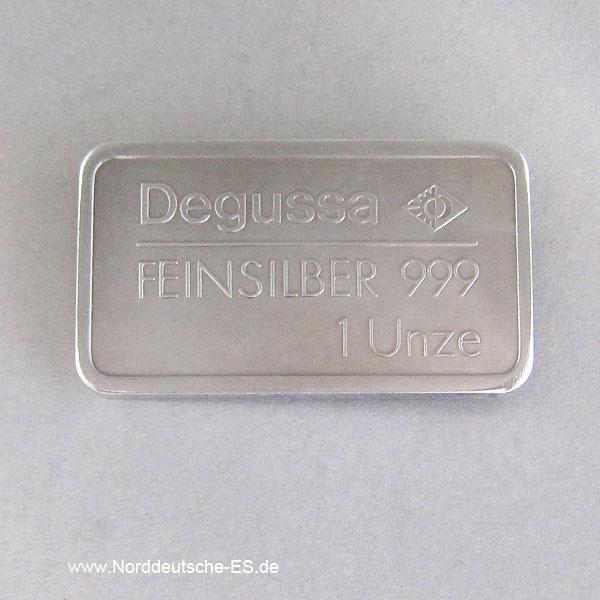 Silber Motivbarren 1 oz Degussa Lokomotive Adler 1 Unze