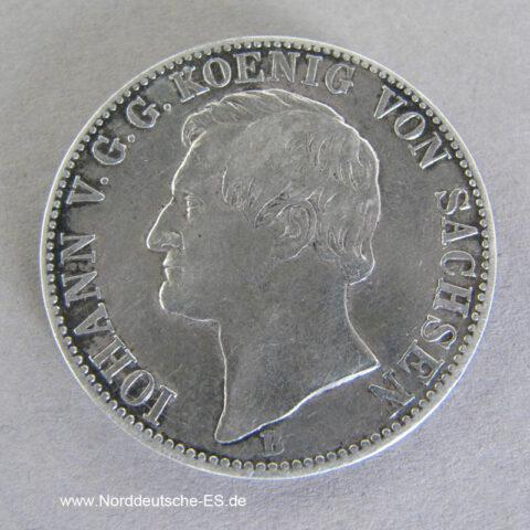 Ausbeutetaler 1867 B Johann König Sachsen Segen des Bergbaus