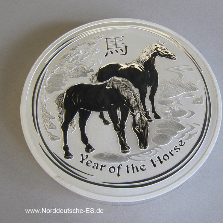 Australien 1 Kg Silber Lunar 2014 Year of the Horse