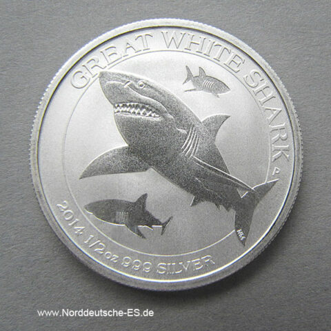 Australien 1_2 oz Silber Great White Shark 2014