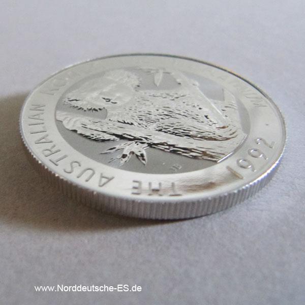 Australien Koala 1 oz Platin 100 Dollars 1992