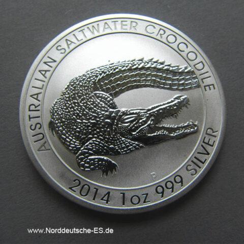 Australien Krokodil 1 oz 2014