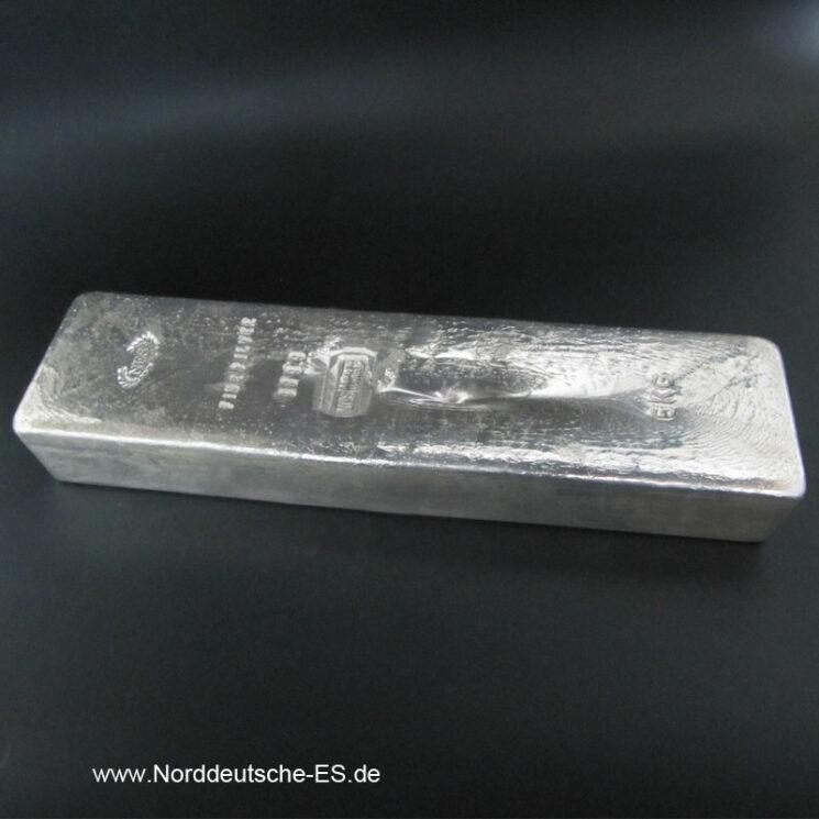Silberbarren Norddeutsche ES 5 Kg 9999 Anlagebarren