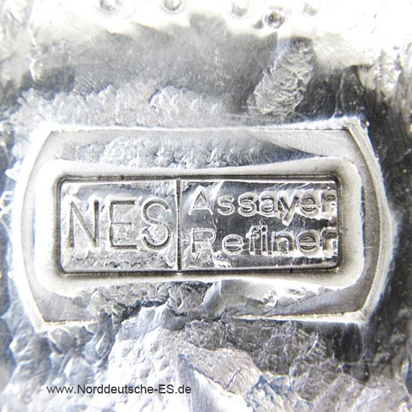 Silberbarren-Norddeutsche-ES-5-Kg-9999-Anlagebarren-NES Stempel