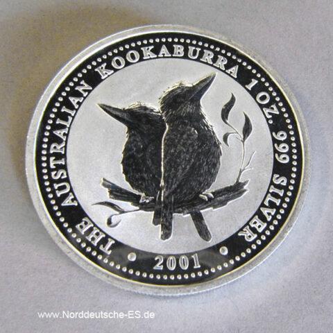Australien Kookaburra 1 Oz Feinsilber 2001