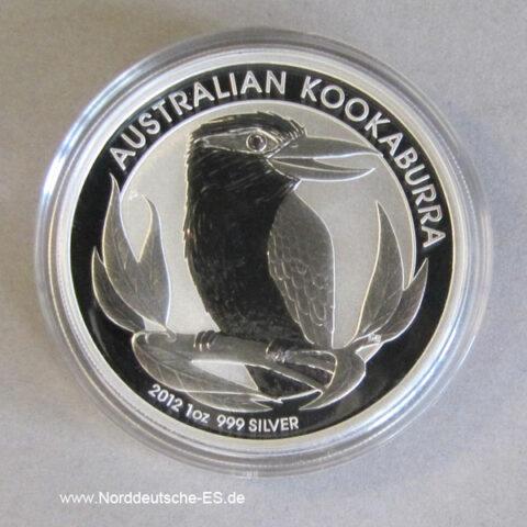 Australien Kookaburra 1 Oz Feinsilber 2012