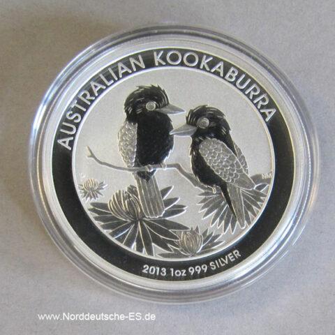 Australien Kookaburra 1 Oz Feinsilber 2013