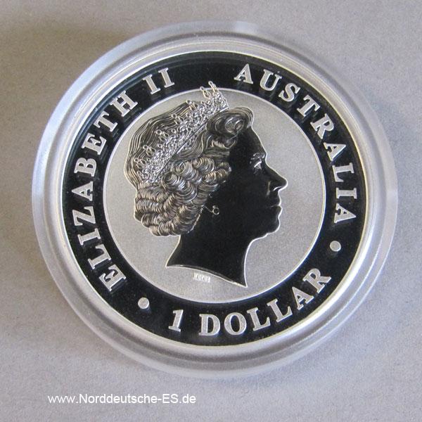 Australien Kookaburra 1 Oz Feinsilber