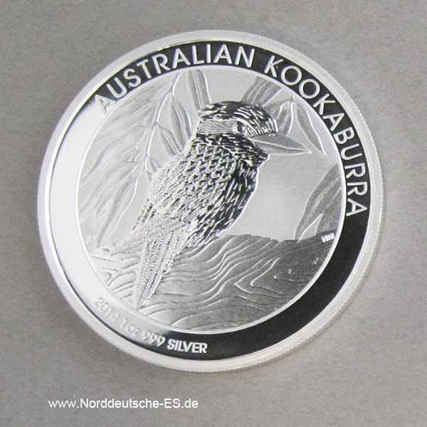 Australien Kookaburra 1 oz Feinsilber 2014