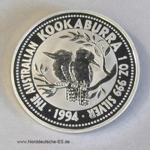 Kookaburra 1 oz Silbermünze 1994