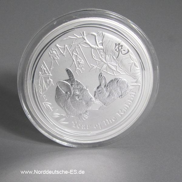 Australien Lunar II Hase 1 Kilo Silber 2011