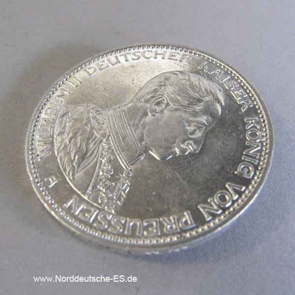Deutsches Reich 3 Mark Wilhelm Ii Preussen 1914 A