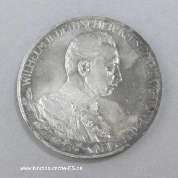 Deutsches Reich Drei Mark Wilhelm II