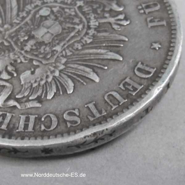 Deutsches Reich 5 Mark 1875 Karl von Württemberg