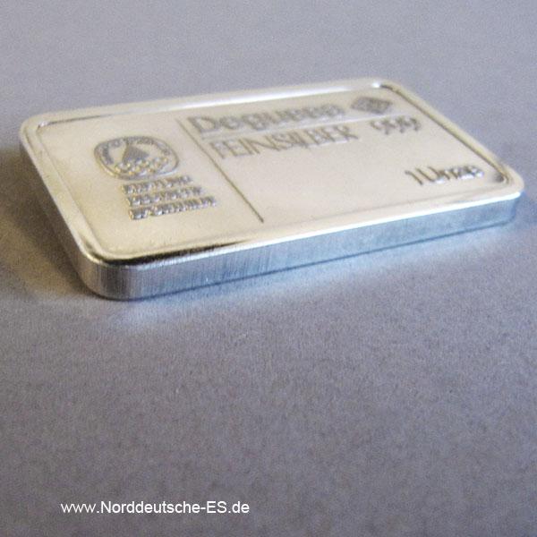 Silberbarren 1 oz Degussa Stiftung Deutsche Sporthilfe Radfahren