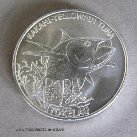Tokelau Inseln 1 oz Silber Kakahi-Yellow Tuna 2014