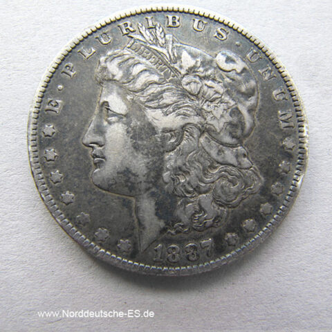 USA 1887 Morgan Silver Dollar