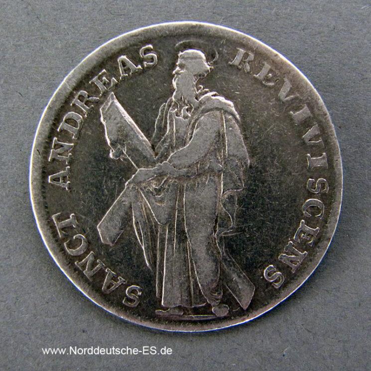 1_3 Taler 1700 HB Silber Georg Ludwig 1698-1714 Sanct Andreas