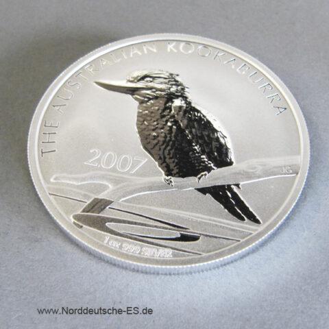 Australien 1 oz Silber Kookaburra 2007