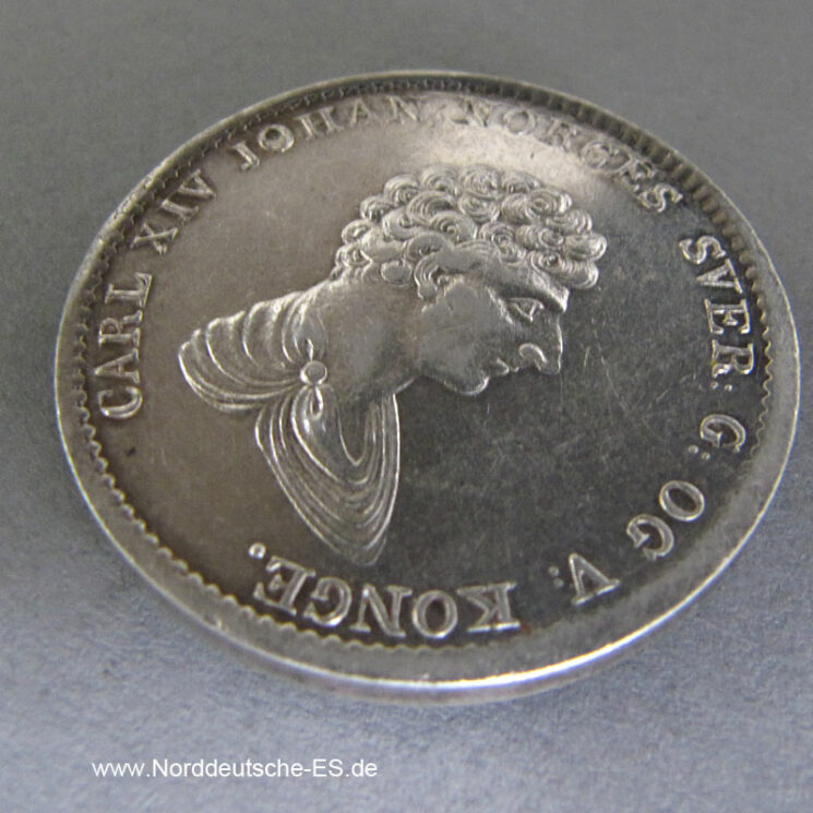 Norwegen 1_2 Speciedaler 60 Skilling 1835 Carl XIV Johan 1827-1836