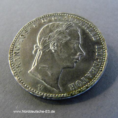 Österreich Kaisertum 1_4 Florin Silber 1859-1865 Franz Joseph I