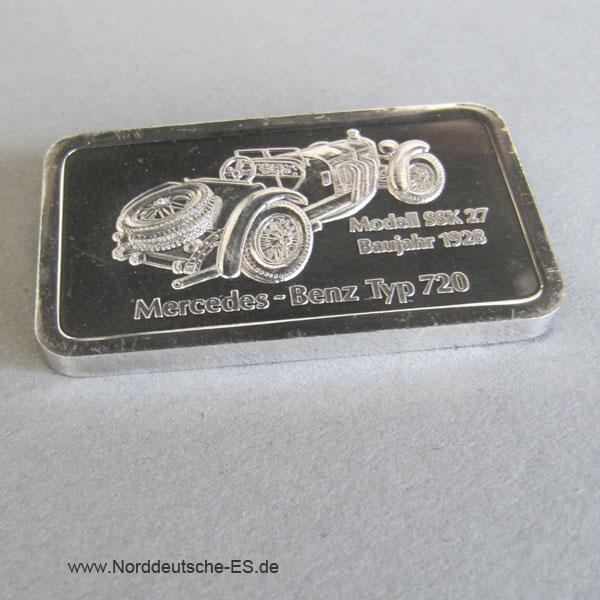 Silberbarren 1 Unze Feinsilber 999 Mercedes Benz Motivbarren Degussa