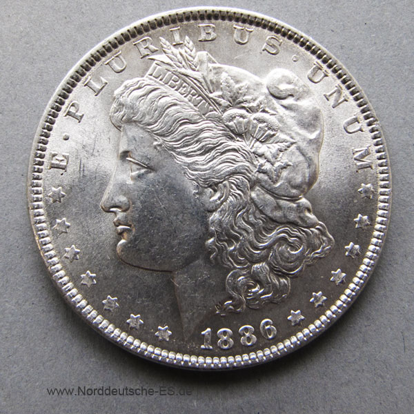 USA Liberty Morgan Dollar Silber 1886
