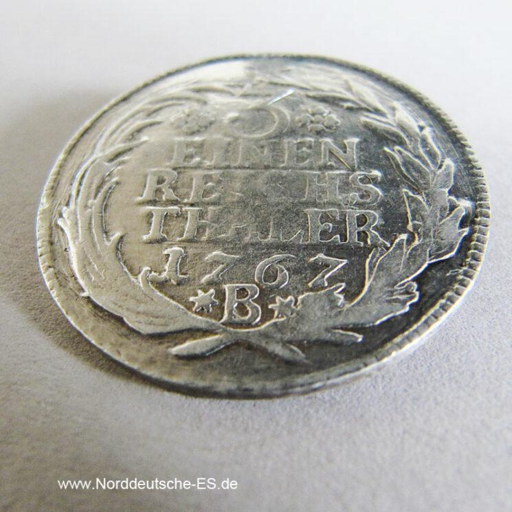 1_3 Taler 1767 B Brandenburg-Preussen Friedrich II 1740-1786