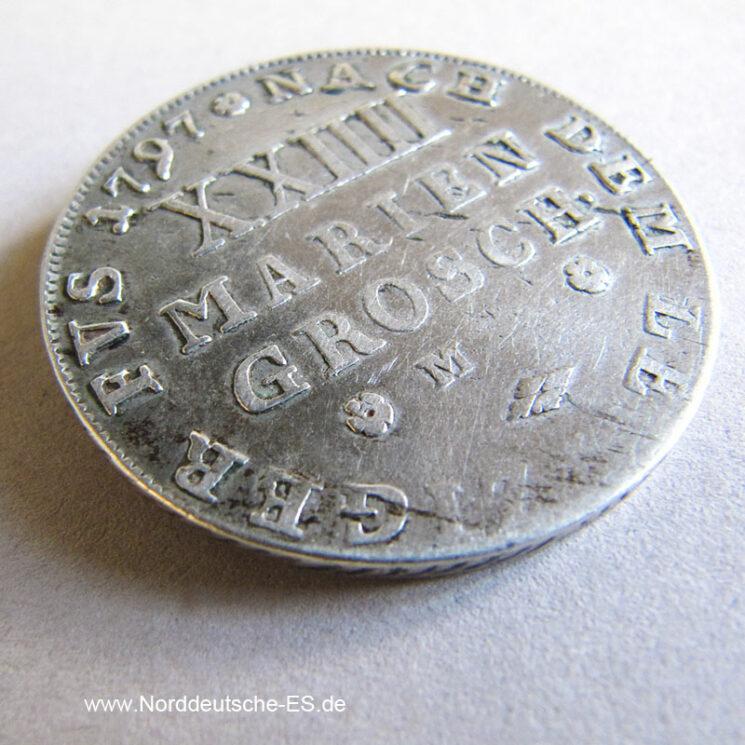 Braunschweig Wolfenbüttel 24 Mariengroschen Silber 1797