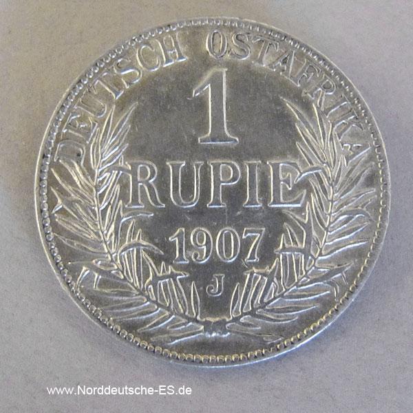 Deutsch Ostafrika 1 Rupie Silbermünze Wilhelm II 1904-1914