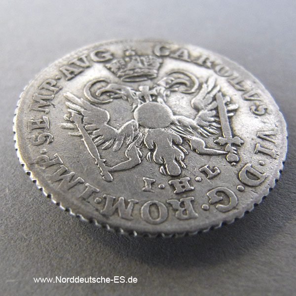 Hamburger Courant 4 Schilling 1738 Silber Hamburg Current