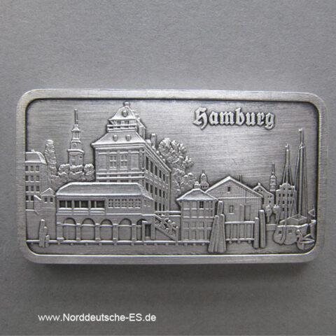 Silberbarren 1 Unze Alt Hamburg Baumwall 1850