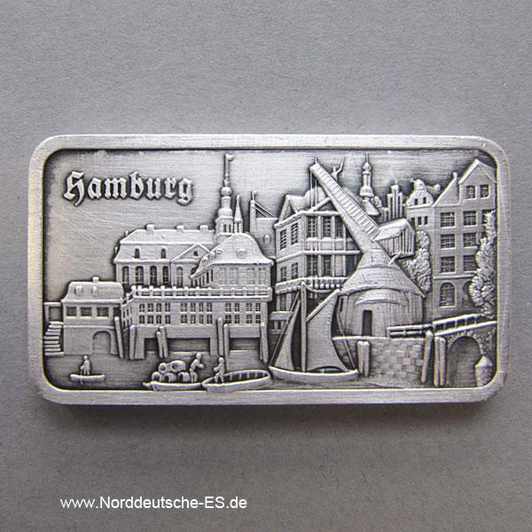Silberbarren 1 Unze Alt Hamburg Hafen 1840