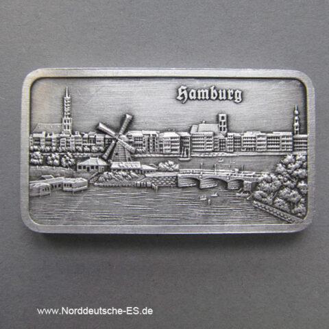 Silberbarren 1 oz Feinsilber 999 Heraeus Aussenalster Lombardsbrücke