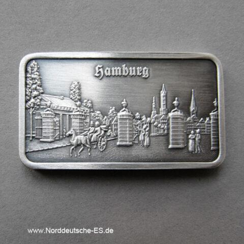 Silberbarren 1 oz Feinsilber 999 Heraeus Steintor Alt Hamburg