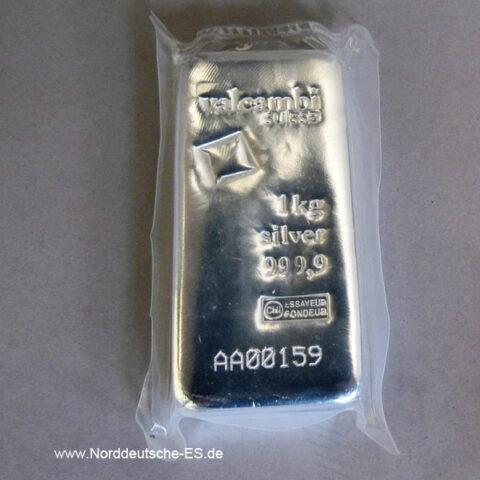 Silberbarren 1kg Feinsilber 999 Diverse Hersteller 1000g