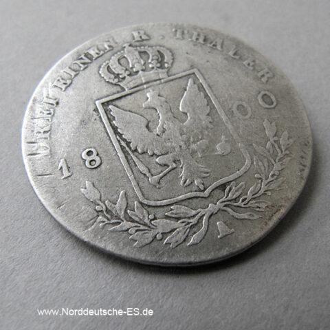 Brandenburg Preussen 1_3 Taler 1800 Friedrich Wilhelm III
