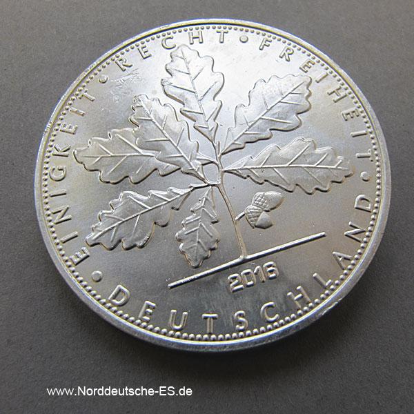 Deutschland 1 OZ Silber Quadriga 2016 Privy Mark W16