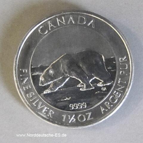 Kanada 8 Dollar 1_5 oz Eisbär Silber Polarbär 2013