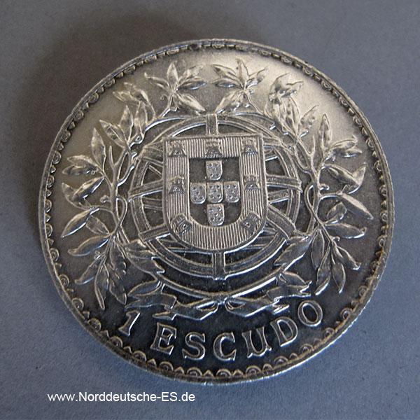 Portugal 1 Escudo 1915 Silbermünze