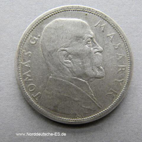 Tschechoslowakei Silber 10 Korun 1918-1928 Masaryk Tomas