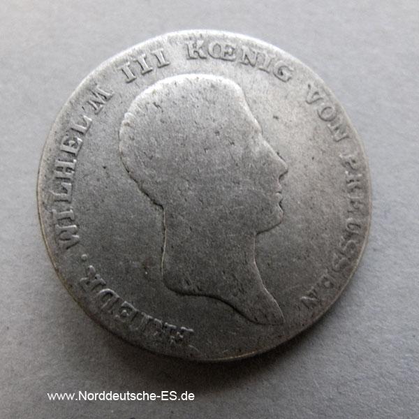 1/6 Taler Friedrich Wilhelm III Preussen 1816 A-Berlin