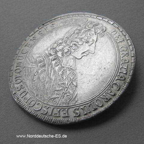 Österreich Taler 1705 Olmütz Bistum Karl III Joseph Lothringen