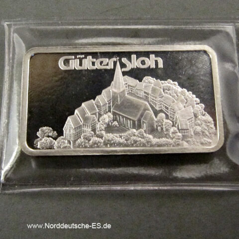 Silberbarren 1 oz Feinsilber 999 Heraeus Gütersloh